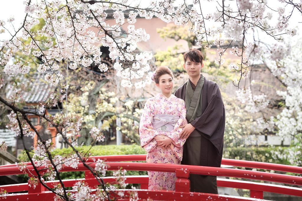 海外婚紗, 自助婚紗, 櫻花, 劉小望, 京都, 和服