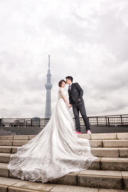 海外婚紗, 自助婚紗, 劉小望, 東京, 晴空塔, 台場, 夜景, 婚攝小望